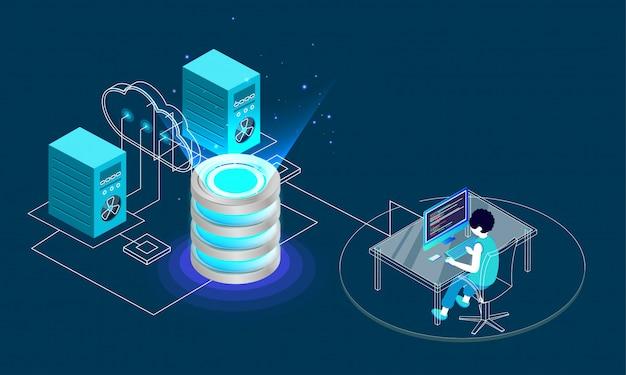 Concept de stockage de données.