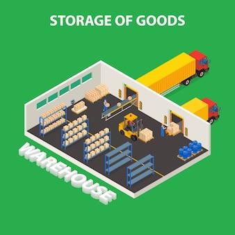 Concept de stockage de marchandises