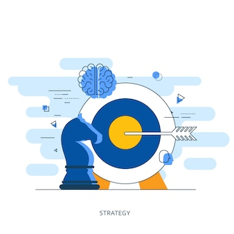 Concept de stratégie d'entreprise