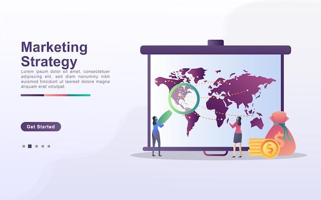 Concept de stratégie marketing. attention, marketing digital, relations publiques, campagne publicitaire, promotion commerciale.