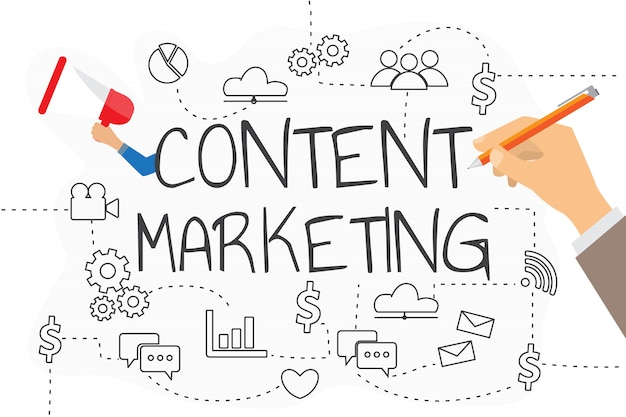 Concept de stratégie de marketing de contenu pour votre entreprise