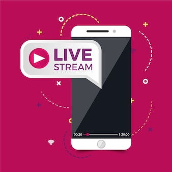 Concept de streaming en direct