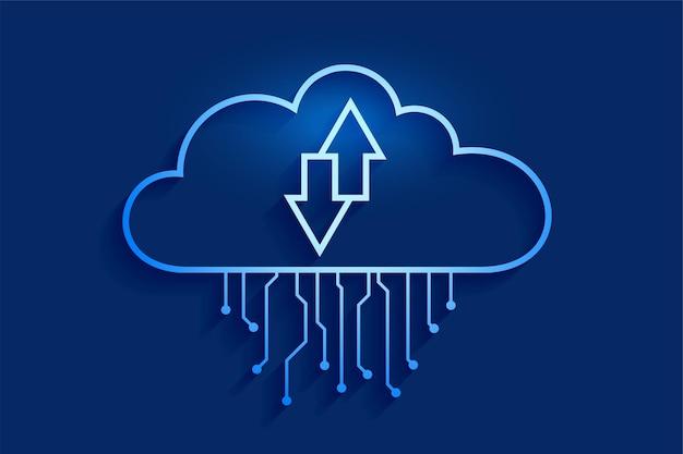 Concept de streaming de données de cloud computing