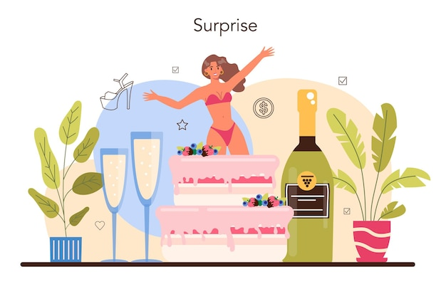 Concept de strip-teaseuse féminine. pole dancing femme en club, strip-teaseuse