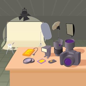 Concept de studio photo