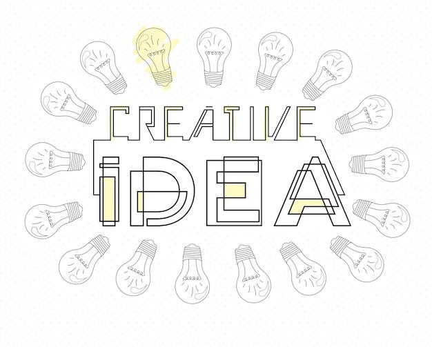 Concept de style de conception de grande idée pour trouver une solution de remue-méninges à la pensée créative
