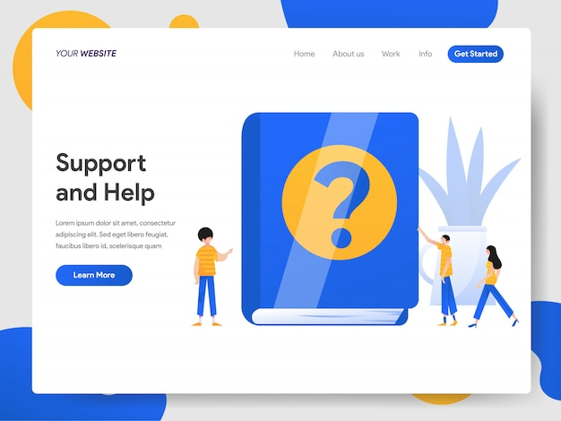 Concept de support et d'aide