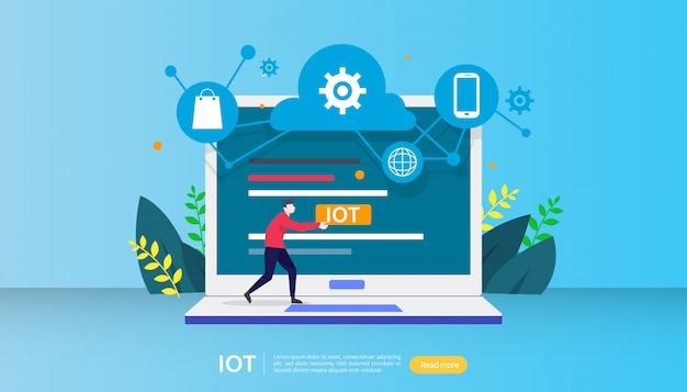 Concept de surveillance iot smart house