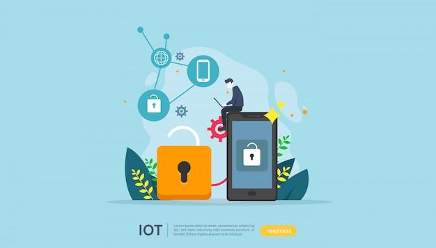 Concept de surveillance iot smart house