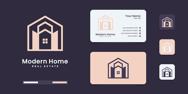 Concept de symbole créatif à la maison. porte ouverte, entrée du bâtiment, logo d'entreprise abstrait de l'agence immobilière.