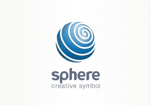 Concept de symbole internet créatif de sphère. logo d'entreprise web abstrait de réseau de communication de globe. données de la terre numérique, icône de la technologie des médias sociaux.