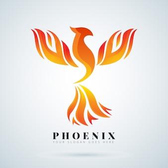 Concept de symbole de logo phoenix