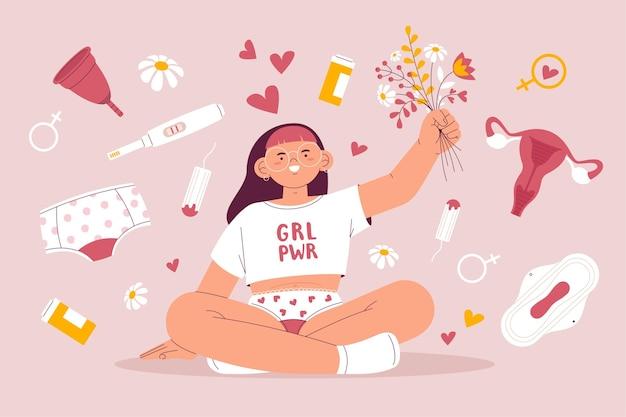 Concept de système reproducteur girl power