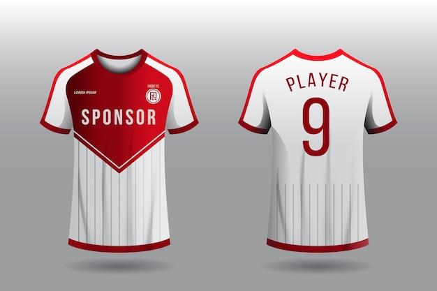 Concept de t-shirt de maillot de football