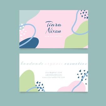 Concept de taches de couleur pastel pour carte de visite