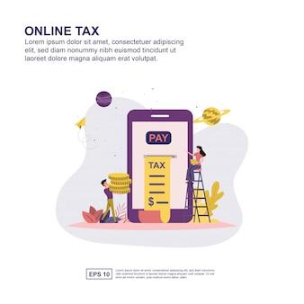 Concept de taxe en ligne