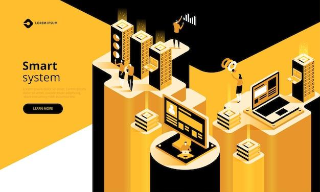 Concept de technologie abstraite de système intelligent