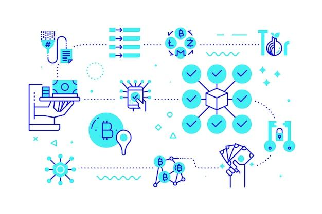 Concept de technologie blockchain