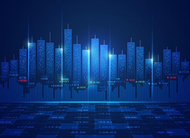 Concept de technologie boursière