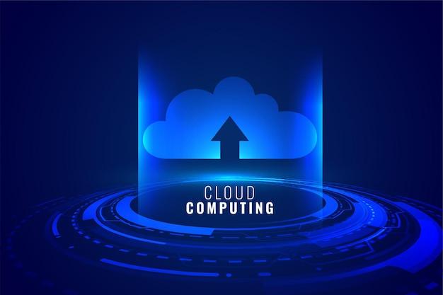 Concept De Technologie De Cloud Computing Vecteur gratuit