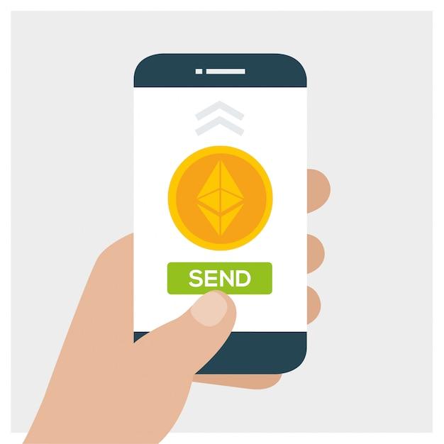 Concept de technologie de crypto-monnaie