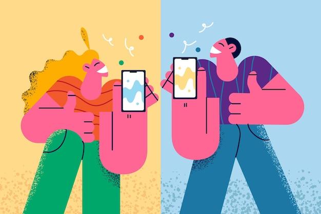 Concept de technologie et de dépendance à internet