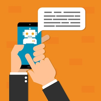 Concept de technologie d'intelligence artificielle de chatbots ai