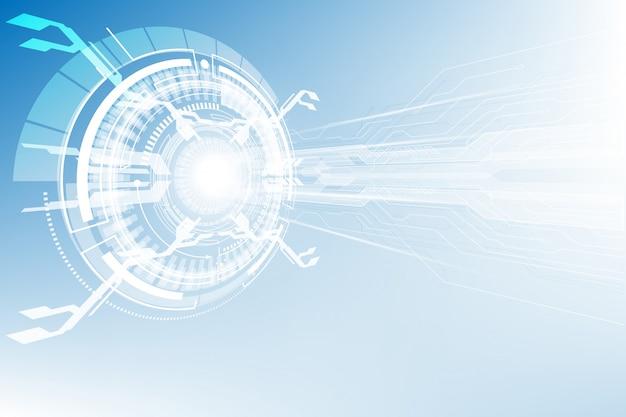 Concept de technologie numérique haute abstrait connexion bleue futuriste