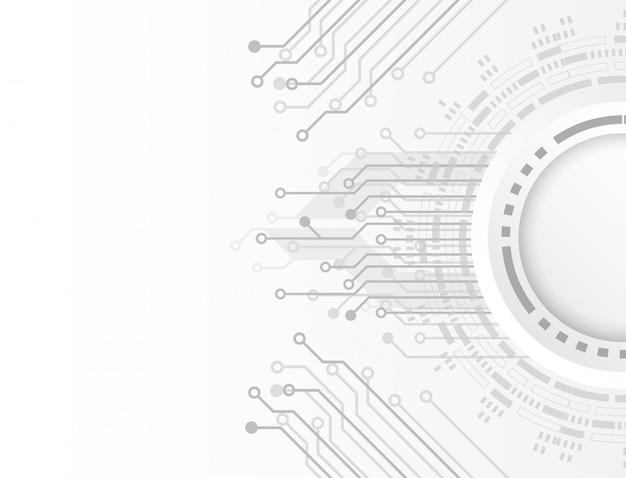 Concept de technologie propre futuriste. papier blanc fond technologie carte de circuit