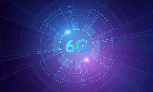 Concept de technologie réseau mobile 6g télécommunications de nouvelle génération internet mobile haute vitesse