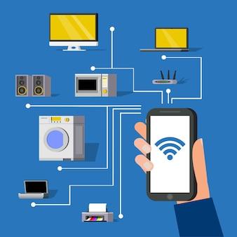 Concept de technologie sans fil