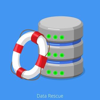 Concept de technologie de sauvetage de stockage sql de base de données