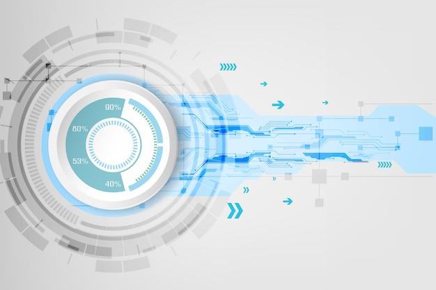 Concept technologique abstrait avec divers éléments technologiques.
