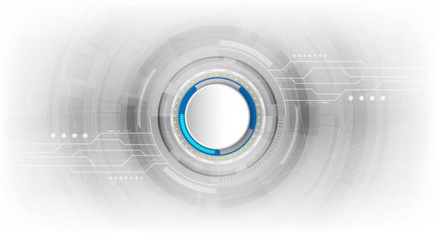 Concept technologique abstrait avec divers éléments technologiques