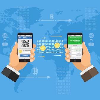Concept technologique de crypto-monnaie bitcoin