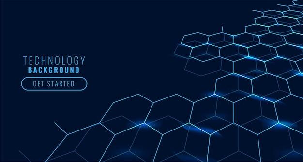 Concept technologique avec des formes hexagonales