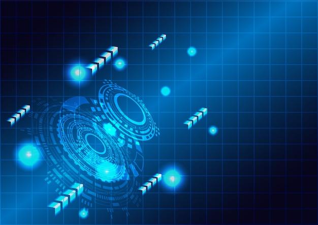Concept technologique futuriste