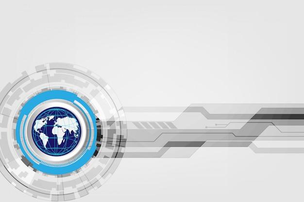 Concept technologique numérique global, abstrait