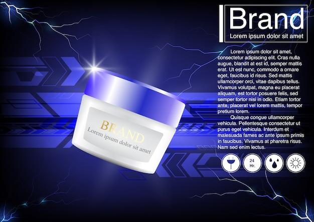 Concept technologique publicitaire cosmétique