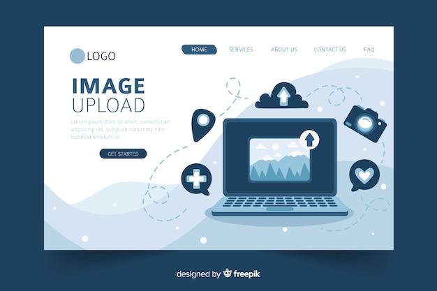 Concept de téléchargement d'images pour la page de destination