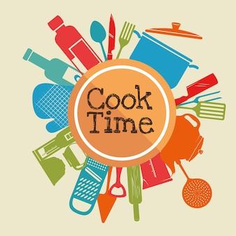 Concept de temps de cuisson