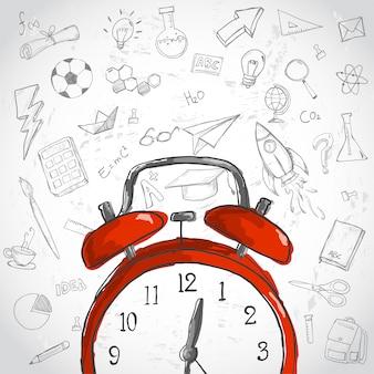 Concept de temps d'éducation