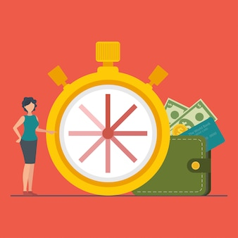 Le concept de temps est de l'argent ou du temps à payer.