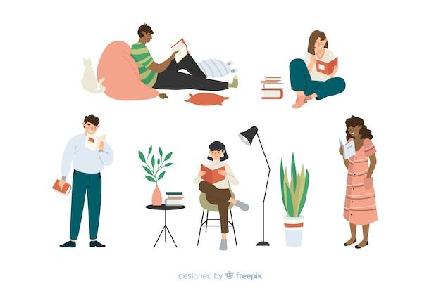 Concept de temps de lecture pour illustration