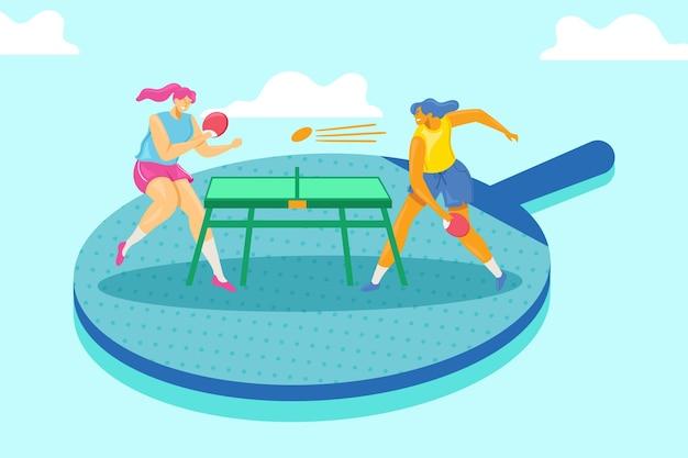 Concept de tennis de table