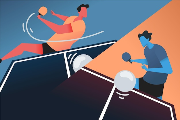 Concept de tennis de table