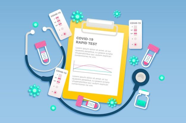 Concept De Test Rapide De Coronavirus Vecteur Premium