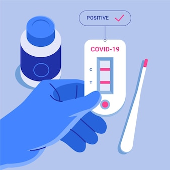Concept de test rapide de coronavirus