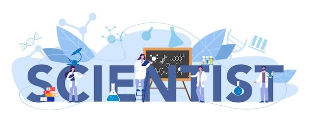 Concept d'en-tête typographique scientifique