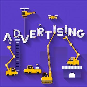 Concept de texte publicitaire